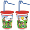 Kids Cup with Red Lid and Kurly Straw